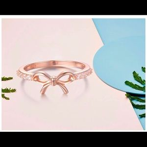 Jewelry - Bow Tie Rose Gold color, sterling silver